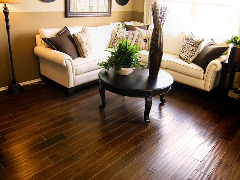 Hardwood Gallery Dark In This Living Room Adds Elegance